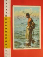 L.3 POSTCARD 1931 USA HAWAIIAN FISHERMAN PESCATORE RETE HAWAII Due Bolli In Fronte MAXIMUM HAWA WAHIAMA - Pesca