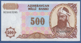 AZERBAIJAN - P.19b – 500  MANAT  Nd (1993)  UNC   Serie BZ - Aserbaidschan