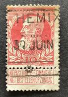 Leopold II Grove Baard 74 - 10c Gestempeld SPOORWEGSTEMPEL HEMIXEM - 1905 Grove Baard