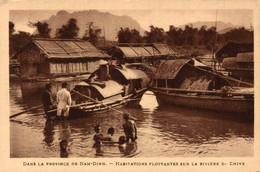 N°9667 Z -cpa Viet Nam -dans La Province De Nam Dinh- Habitations Flottantes- - Vietnam