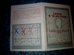 Vieux Papier Carte D'électeur Mairie De Ernes Calvados Année ? - Other