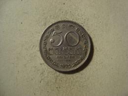 MONNAIE SRI LANKA 50 CENTS 1975 - Sri Lanka