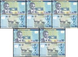 Namibia - 5 Pcs X 10 Dollars 2015 UNC P. 16 Lemberg-Zp - Namibia