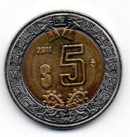 Mexique -  5 Pesos 2011 TTB+ - Mexico