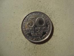 MONNAIE SRI LANKA 50 CENTS 2002 - Sri Lanka