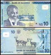 Namibia - 10 Dollars 2015 UNC P. 16 Lemberg-Zp - Namibia