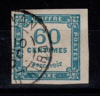 Signé CALVES - Taxe YV 9 Oblitere TTB , 4 Belles Marges , Cote 150+ Euros - 1859-1955 Afgestempeld