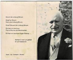 Graaf De LIMBURG STIRUM Et Du St. Empire - Cavalerieofficier - Overleden  1989 - Devotion Images