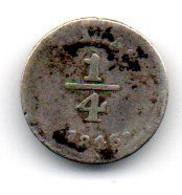 Perou -  1/4 Real 1846 B - Peru