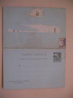 Entier Postal  Carte Postale Avec Réponse Payée Obock Type Alphée Dubois Sur  10c   Voir Scan - Lettres & Documents