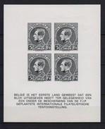 MONTENEZ BLOK ONGETAND EN ZONDER GOM,ZOALS UITGEGEVEN  POSTFRIS** A14 - Commemorative Labels