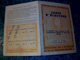 Vieux Papier Carte D'électeur Mairie De Perrières  Calvados Année 1983 - Other