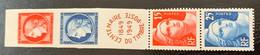 France   1949  Y Et T 833A *  Michel 840/3  Léger Pli Sur 15F Marianne - Unused Stamps