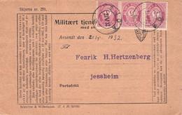 NORWAY - MILITAERT TJENESTEBREVKORT 1932 JESSHEIM /QE80 - Enteros Postales