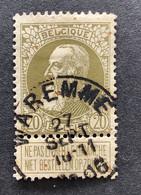 Leopold II Grove Baard 75 - 20c Gestempeld EC WAREMME - 1905 Barba Grossa