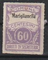 Mariglianella. Marca Municipale (marca Comunale) Diritti Di Segreteria C. 60. Nuova. - Otros