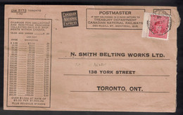 CANADA # 254 On 1944 CNR Cash On Delivery Remittance Envelope - RPO Cancel - 1981-1990