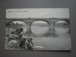 REMICH 1908 - LE PONT - DIE BRUCKE - LAVEUSES - ED. N. SCHUMACHER - Remich