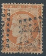 Lot N°60324   N°38, Oblit GC, Déchirure Réparée Filet NORD - 1870 Besetzung Von Paris