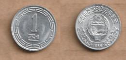 COREA DEL NORTE   1 Chon  1959  Aluminium • 0.64 G • ⌀ 16 Mm KM# 1 - Korea, North