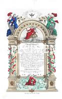 Porceleinkaart -  Programme De La Distribution Des Prix - Brugge - Bruges - 25.5 X 17 Cm - Brugge