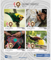 A413 - KOLUMBIEN - 2020- MNH- 40 YEARS DIPLOMATIC RELATIONS COLOMBIA-INDONESIA - Colombia