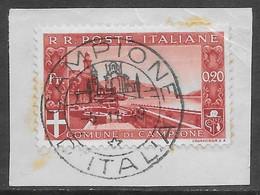 Italia Italy 1944 Campione Paesaggi C20 Frammento Sa N.8 US - Andere