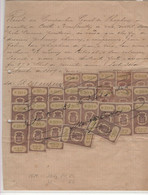 Tax.Revenue Portugal. 1879 - Arms Of The Kingdom. Receipt Worth 150,000 $ 000 Reis, dated 9/30/1899, With 19 Tax Stamps - Portugal