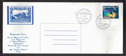 CANADA Centennial Train Cover From PAB To St John's Route Back Cancels - Commemorative Covers