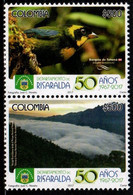 """A554R-COLOMBIA- 2017 - MNH- RISARALDA DEPARTMENT 50 YEARS- BIRD """"BANGSIA AUREOCINCTA"""" AND NATURAL PARK SNOWY - Colombia"""