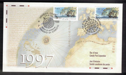 CANADA FDC Joint Issue With Italy - 1997 John Cabot Discovery Of Newfoundland - Unclassified
