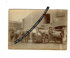Brasserie POULAIN  A Fourmies PHOTO Veritable Vers 1900-Proprietaires Et Employes TRES RARE-(16cm/10) - Fourmies
