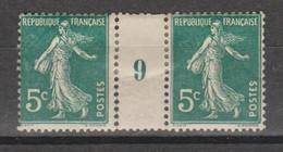 Semeuse Grasse 5c Vert De 1909 - Millésimes