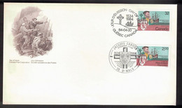 CANADA FDC Joint Issue With France - 1984 Jacques Cartier Voyages - Unclassified