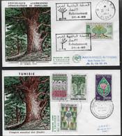 1963 60 Algérie Et Tunisie N°  FDC  . Reboisement Et Congrès Mondial Des Forêts - Environment & Climate Protection