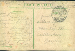 "1917, Feldpost, ""Mil. Miss. KONSTANTINOPEL"", Ansichtskarte Nach Nürnberg - Offices: Turkish Empire"