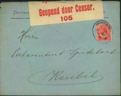 1916, BRITISCHE BESETZUNG, Brief Mit Zensur Und Aptiertem Dt. Bahnpoststempel SWAKOPMUND Nach Karibib - Colonie: Afrique Sud-Occidentale