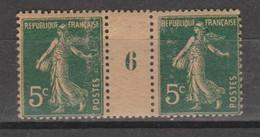Semeuse Grasse 5c Vert De 1916 Papier GC - Millésimes