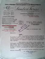 G 22  Courrier/facture / Document Entete Fournitures Assainissement   à Cormeilles En Parisis - Otros