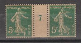 Semeuse Grasse 5c Vert De 1917 Papier GC - Millésimes