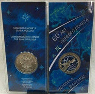 Russia, 2021, Space, Y.Gagarin 25 Rbl Rubels Rubles Colored In Special Pack - Russia