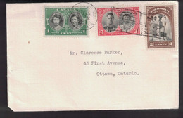 CANADA Scott # 246-8 On Cover Royal Train And Flag Cancels - Commemorative Covers