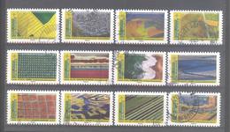 France Autoadhésifs Oblitérés N°1942 à 1953 (Série Complète : Mosaïques De Paysages) (cachet Rond) - Used Stamps