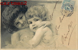 BELLE SERIE DE 4 CPA GAUFREE EMBOSSED : BABE ENFANT CHILD BEBE ILLUSTRATEUR 1900 - Collections, Lots & Series