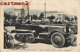 AUTOMOBILE A CHENILLE CLERMONT-FERRAND QUARTIER DESAIX 16e REGIMENT R.A.D.A. L'ETENDARD GUERRE TANK ARTILLERIE - Clermont Ferrand