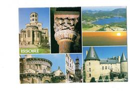 Cpm - 63 - Issoire - église Saint Austremoine - Lac Chambon Château De Villeneuve Lembron - Debaisieux 63.67 - Issoire