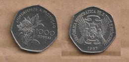 SANTO TOME Y PRICIPE 1000 Dobras (FAO) 1997  Chromium Clad Steel • 6.3 G • ⌀ 25 Mm KM# 90, Schön# 93 - Sao Tome And Principe