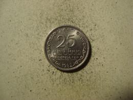 MONNAIE SRI LANKA  25 CENTS 1982 - Sri Lanka