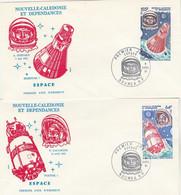 NOUVELLE CALEDONIE FDC 1981 - YT PA Série 212 Et 213 Shepard Gagarine - Espace - FDC