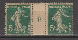 Semeuse Grasse 5c Vert De 1919 Papier GC - Millésimes